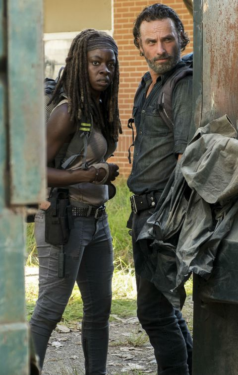Rick and Michonne in 'The Walking Dead' season 7 episode 12 'Say Yes'