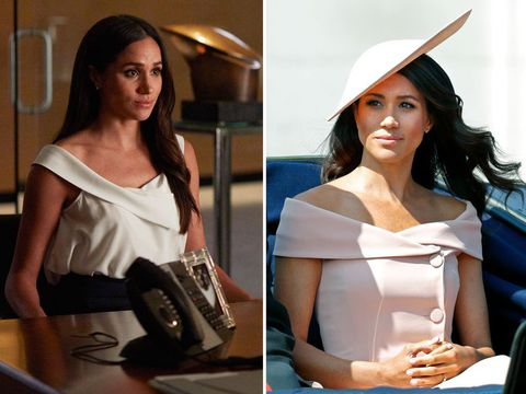 Meghan Markle's style - bare shoulders