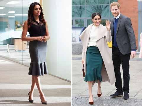 Meghan Markle's style - fluted skirt