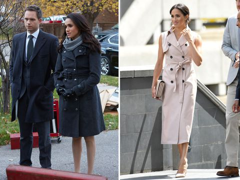Meghan Markle's style - trench coat dress
