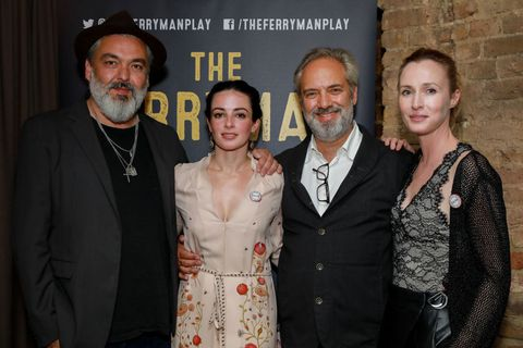 Jez Butterworth, Laura Donnelly, Sam Mendes and O'Reilly at the premiere of The Ferryman